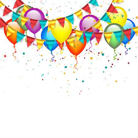 ünneplés: Léggömbök füzérek Illusztráció