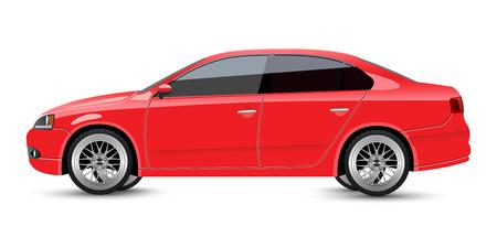 sedan: Red Sports Sedan