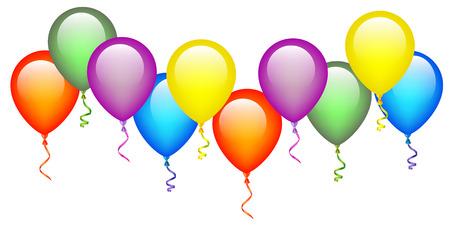 Colorful Balloons Illustration