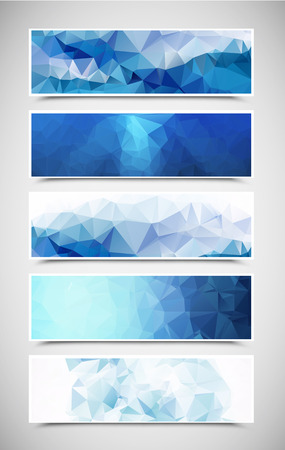 triangle pattern: Set of Triangular Banners