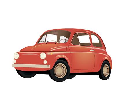 vintage car: Small Retro Car