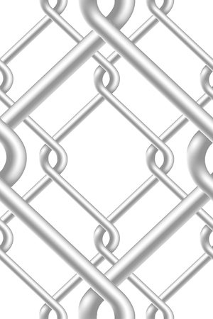 chained link: Seamless Fence Pattern