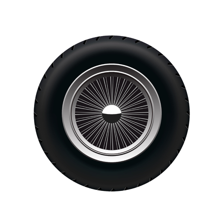alloy wheel: Retro Car Wheel