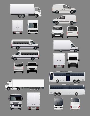 輸送車 1 のセット  イラスト・ベクター素材