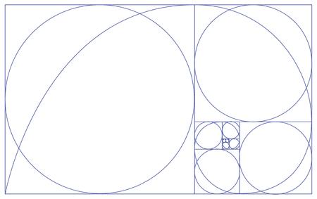 golden ratio: Proportions d'or Illustration