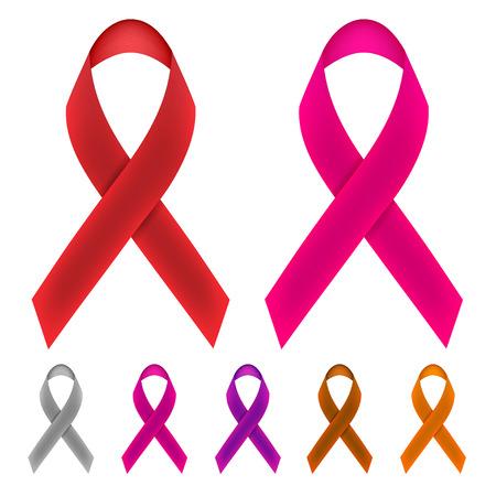 cancer ribbons: Cancer Awareness Ribbons Illustration