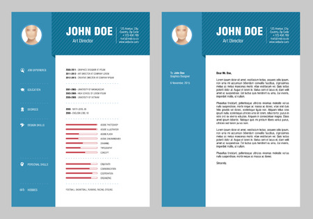professional occupation: Resume and Cover Letter Illustration