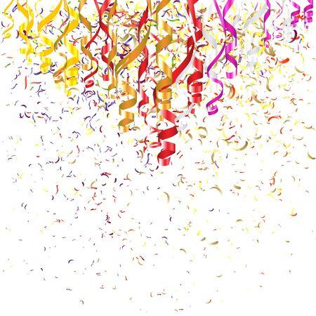 serpentine: Confetti and Serpentine Ribbons Illustration