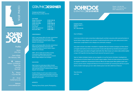 design template: Resume and Cover Letter Illustration