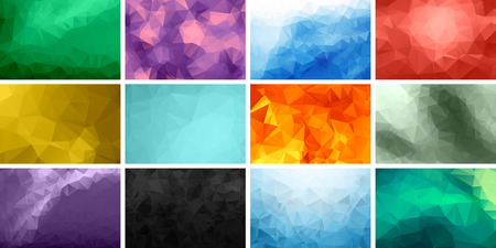 Set of Polygonal Backgrounds