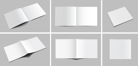 business book: Blank Magazine Mockups Illustration