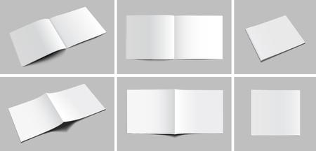 Blank Magazine Mockups Illustration