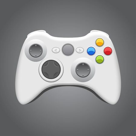 game pad: Gamepad over Gray Background Illustration