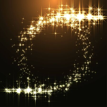 design vector: Christmas Circle Made of Lights