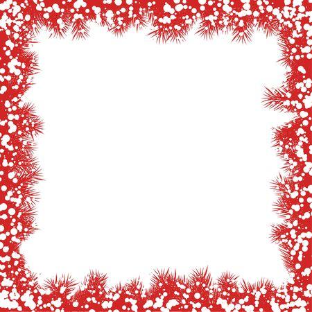 christmas red: Christmas Snowflake Frame