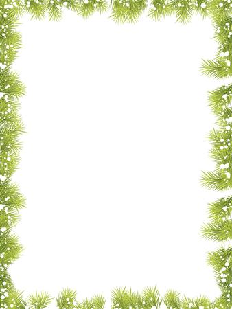 クリスマスもみの木枠  イラスト・ベクター素材