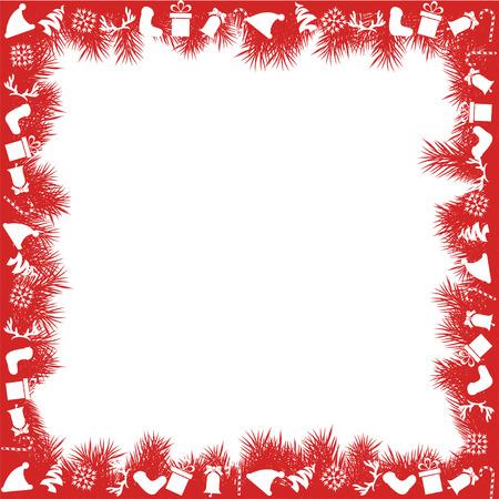 Red Christmas Border 일러스트