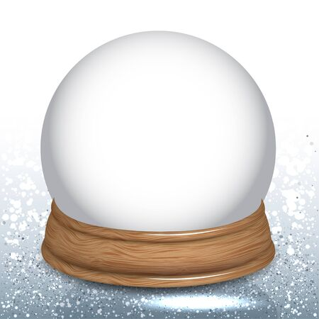 wooden circle: Empty Snow Dome