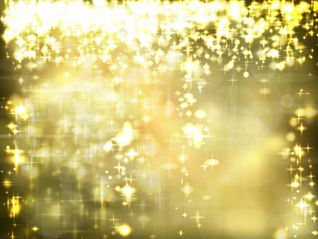 gold stars: Golden Christmas Background