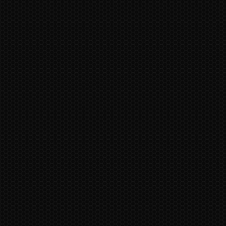 Seamless Black Hexagonal Texture Ilustrace