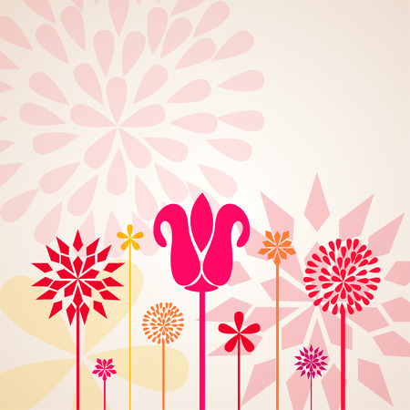 dandelion abstract: Decorative Flowers Illustration