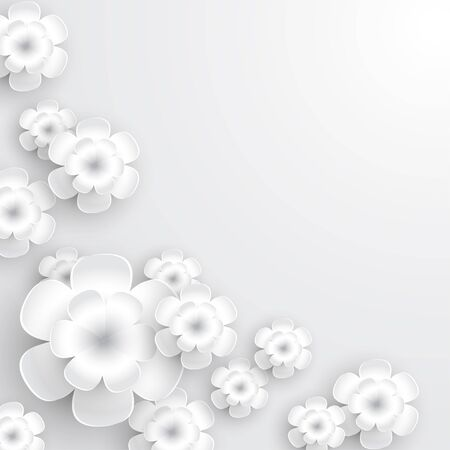 white flowers: White Paper Flowers