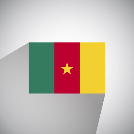 cameroon: Flat Style Flag of Cameroon Illustration