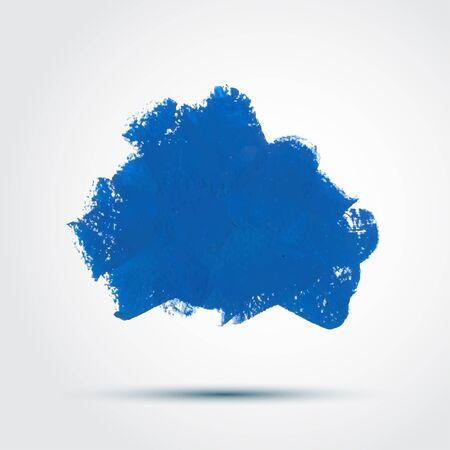 pastel colour: Blue Watercolor Design Element - Cloud
