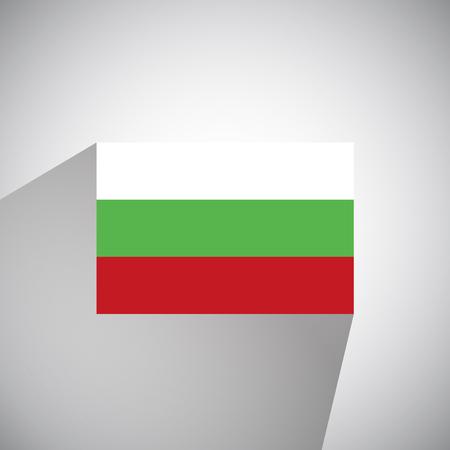 bulgaria: Flat Style Flag of Bulgaria