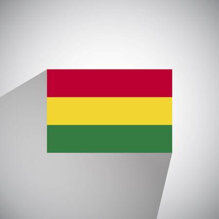 bolivia: Flat Style Flag of Bolivia Illustration