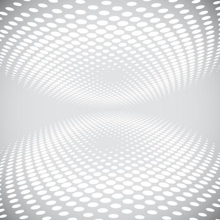 White Halftone On Gray Background