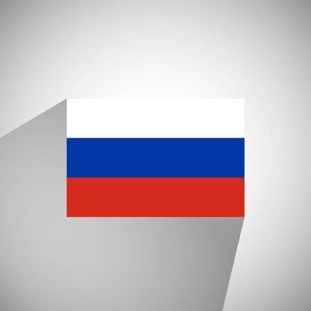 russia: Flat Style Flag of Russia Illustration