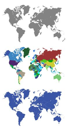 china business: World Maps with Outlined Countries