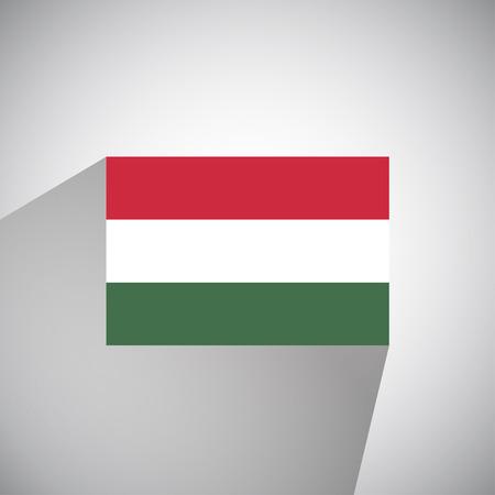 hungary: Flat Style Flag of Hungary Illustration