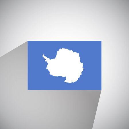 antarctica: Flat Style Flag of Antarctica