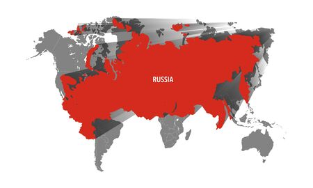russia map: Map of Russia