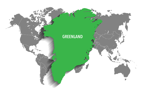 greenland: Map of Greenland