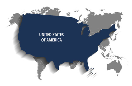 north america: Map of United States of America