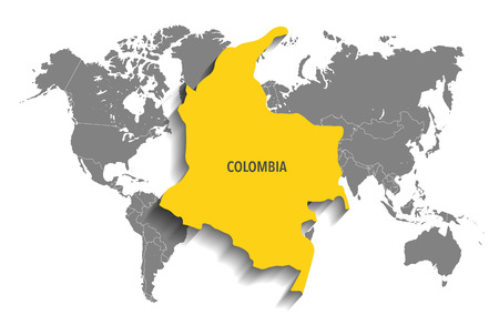 south america map: Map of Colombia