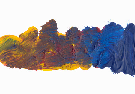 mess: Abstract Oil Paint Mess