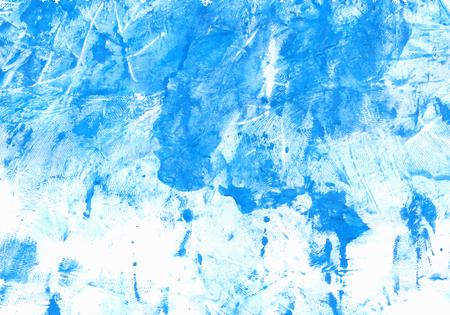 Blue Gouache Paint on Wrinkled Paper