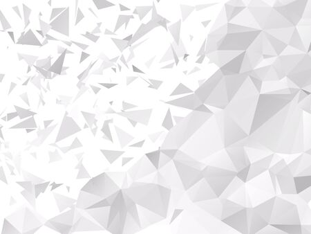 dispersed: Shattered Gray Polygonal Background Illustration
