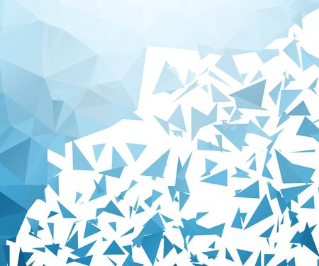 dispersed: Shattered Blue Triangular Background