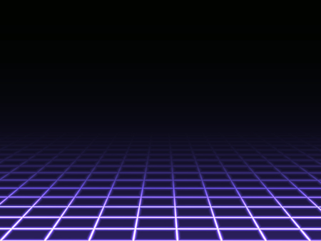 grid: Dark Perspective Grid Background