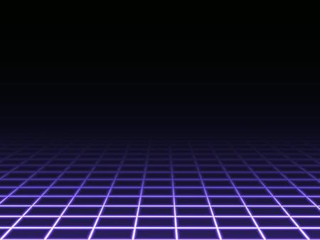 blue light background: Dark Perspective Grid Background