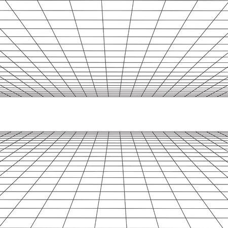 perspectief Achtergrond Vector Illustratie