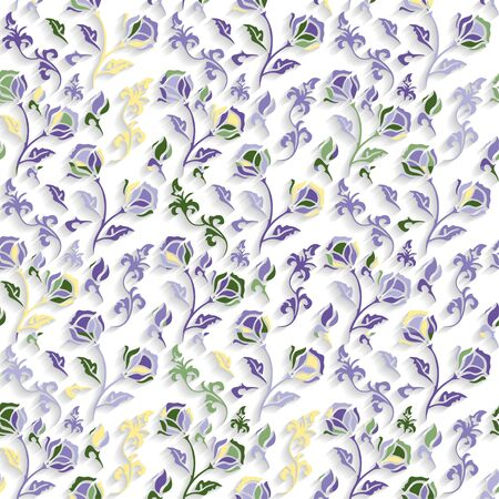 seamless floral: Seamless Floral Pattern Illustration