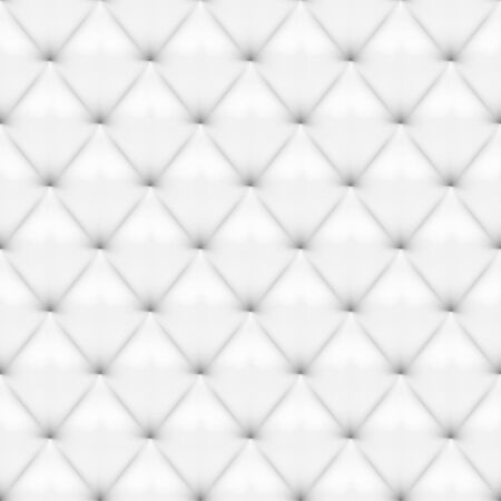 Seamless White Leather Upholstery Pattern Vectores