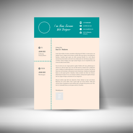 cover: Cover Letter Design Illustration