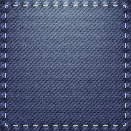 blue jeans: Blue Jeans Patch Illustration